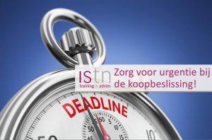 Verkooptraining ISTN: zorg voor urgentie bij de koopbeslissing!